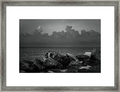 Storm Over Roda- Greece Framed Print by Cambion Art