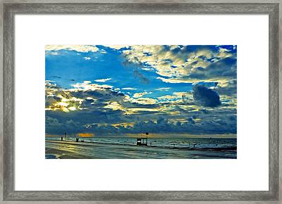 Storm Over The Gulf Framed Print by John Collins