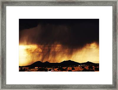 Storm Over The Mountains Framed Print by Joseph Frank Baraba