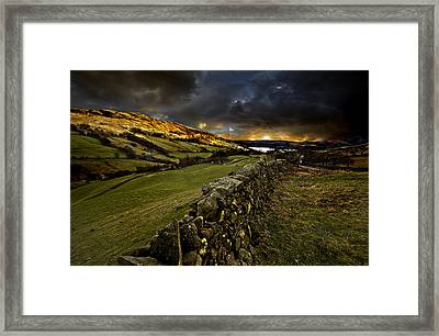Storm Over Windermere Framed Print by Meirion Matthias