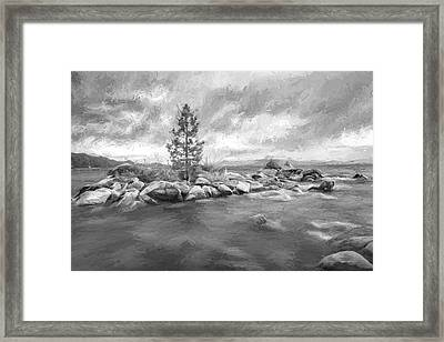 Storm Runs Through Iv Framed Print by Jon Glaser