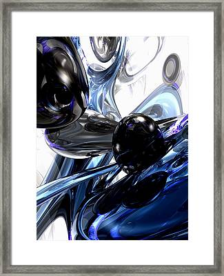 Storm Shadow Abstract Framed Print by Alexander Butler