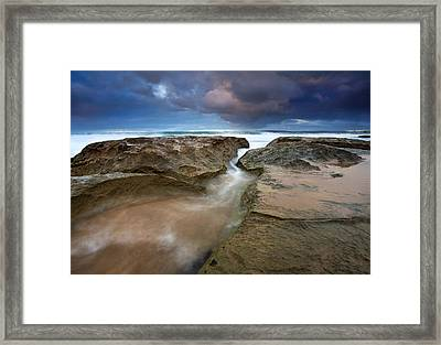Storm Surge Framed Print by Mike  Dawson