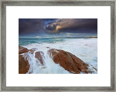 Storm Tides Framed Print by Mike Dawson