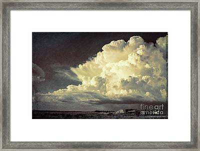 Storm Warning Framed Print by Marvin Spates