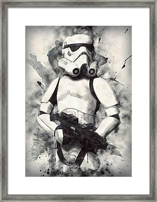 Stormtrooper Framed Print by Taylan Soyturk