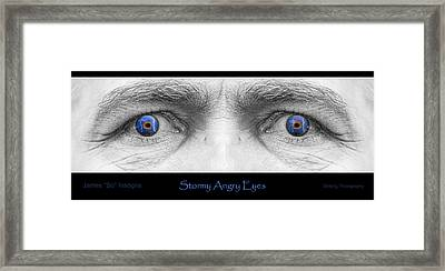 Stormy Angry Eyes Poster Print Framed Print by James BO  Insogna