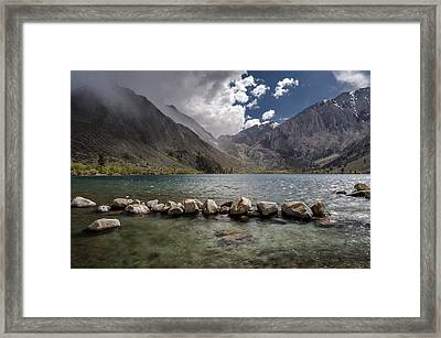 Stormy Day At Convict Lake Framed Print by Cat Connor