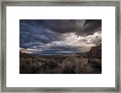 Stormy Day Framed Print by Cat Connor