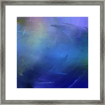 Stormy Seas Indigo Framed Print by Wally Boggus