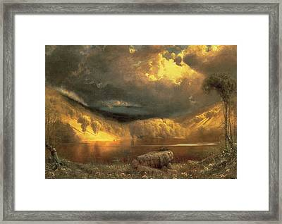 Stormy Skies Above Echo Lake White Mountains  Framed Print by Fairman California