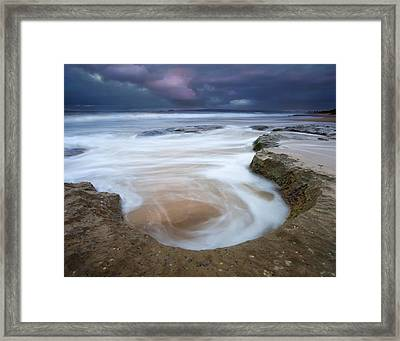 Stormy Sunrise Framed Print by Mike  Dawson