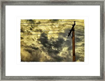 Stormy Sunset Framed Print by Tony Grider