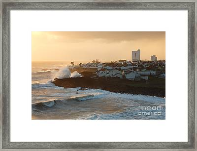 Stormy Weather In Azores Framed Print by Gaspar Avila