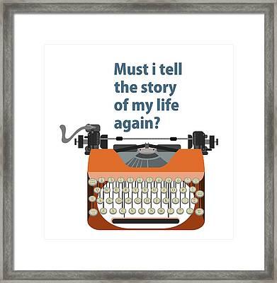 Story Of My Life Framed Print by Diamantis Seitanidis