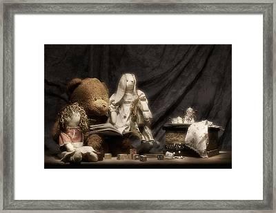Story Time Framed Print by Tom Mc Nemar