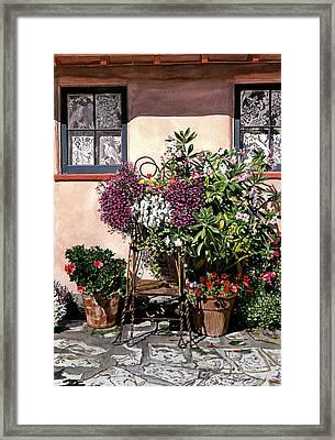 Storybook Cottage Carmel Framed Print by David Lloyd Glover