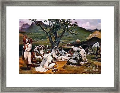 Storyteller 1833 Framed Print by Padre Art