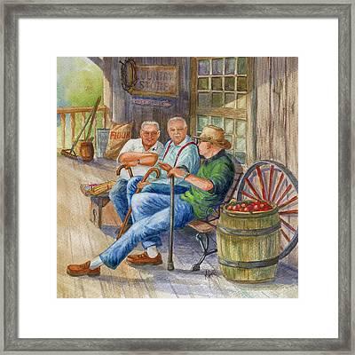 Storyteller Friends Framed Print by Marilyn Smith