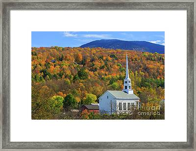 Stowe Community Church, Vermont Framed Print by Henk Meijer Photography