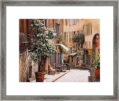 stradina di Grasse Framed Print by Guido Borelli