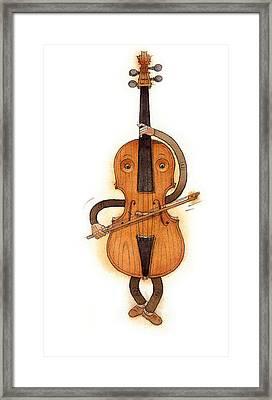Stradivarius Violin Framed Print by Kestutis Kasparavicius