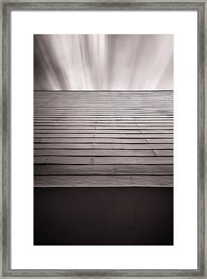 Straight Line Above Framed Print by Scott Norris