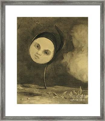 Strange Flower  Little Sister Of The Poor Framed Print by Odilon Redon