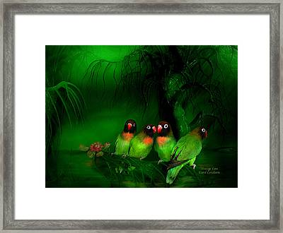 Strange Love Framed Print by Carol Cavalaris
