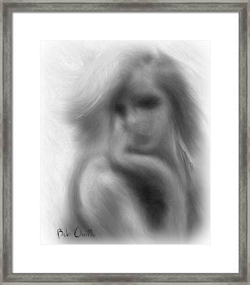 Stranger At The Cafe Framed Print by Bob Orsillo