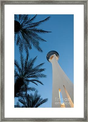 Stratosphere Tower Framed Print by Andy Smy