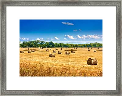 Straw Bales Framed Print by Boyan Dimitrov