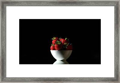 Strawberries Still Life Framed Print by Michael Ledray