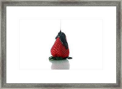 Strawberry And Chocolate Framed Print by Michael Ledray