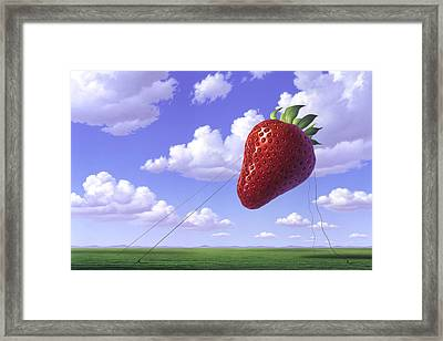 Strawberry Field Framed Print by Jerry LoFaro