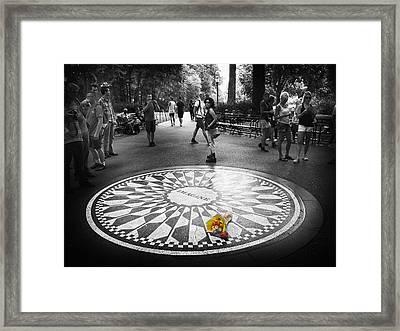 Strawberry Fields Forever Framed Print by Jessica Jenney