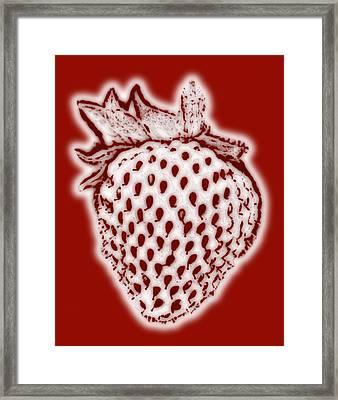 Strawberry Framed Print by Frank Tschakert