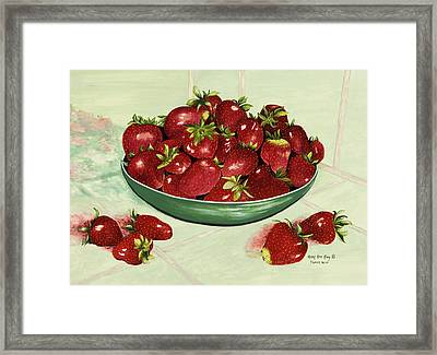Strawberry Memories Framed Print by Mary Ann King