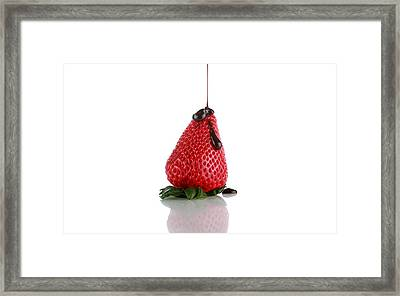 Strawberrys And Chocolate Framed Print by Michael Ledray