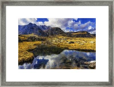Stream Reflections Framed Print by Ian Mitchell