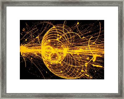 Streamer Chamber Photo Of Particle Tracks Framed Print by Cern