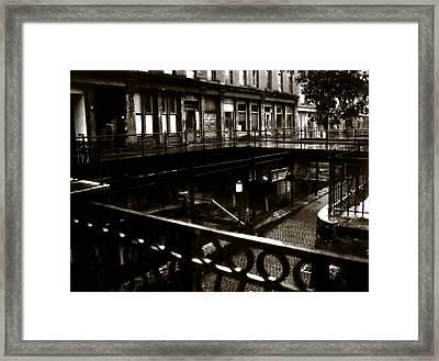 Street Below  Framed Print by Marcin and Dawid Witukiewicz