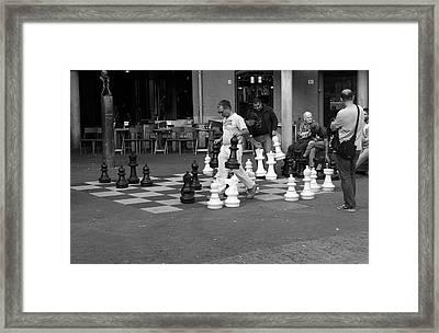 Street Chess Framed Print by Aidan Moran