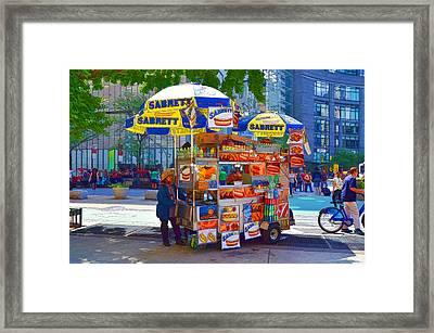 Street Food Framed Print by Lanjee Chee