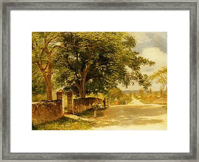 Street In Nassau Framed Print by Albert Bierstadt