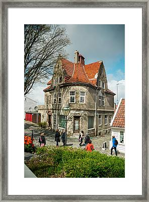 Street In Stavanger Framed Print by Mirra Photography