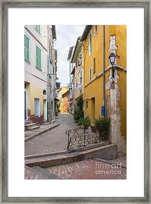 Street Intersection In Villefranche-sur-mer Framed Print by Elena Elisseeva