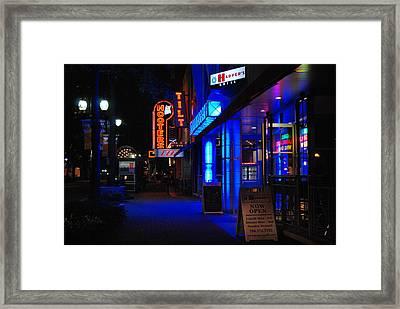 Street Life Framed Print by Steavon Horne