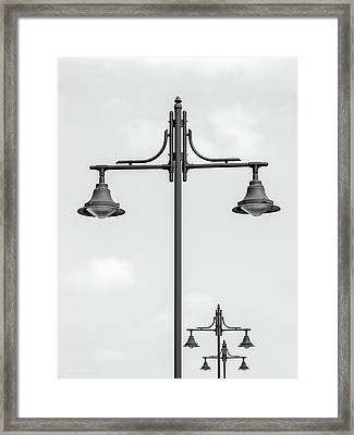 Street Lights Framed Print by Wim Lanclus