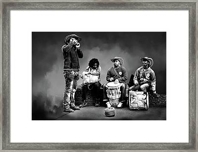 Street Music Framed Print by Maria Coulson